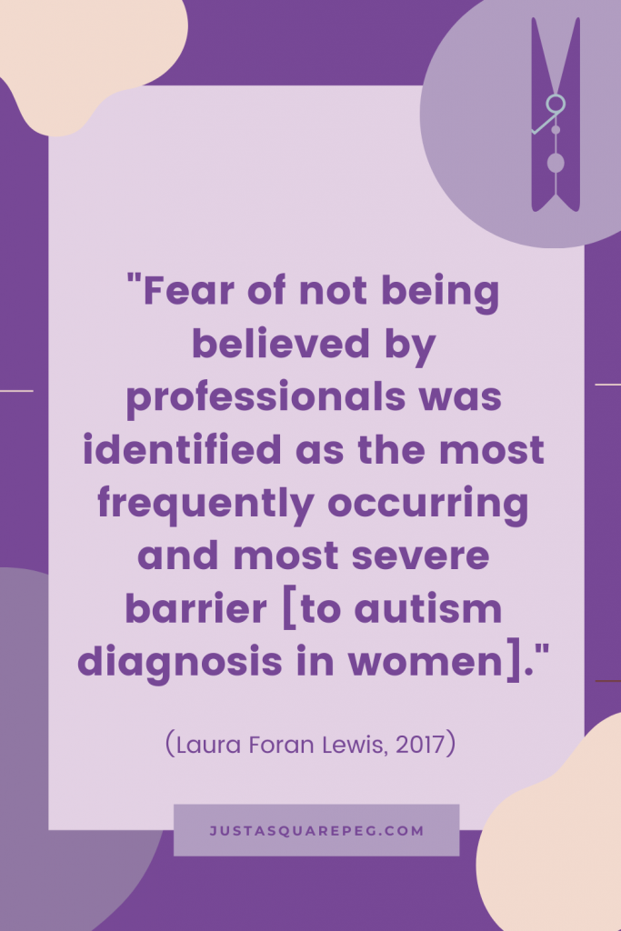Why many autistic women self diagnose